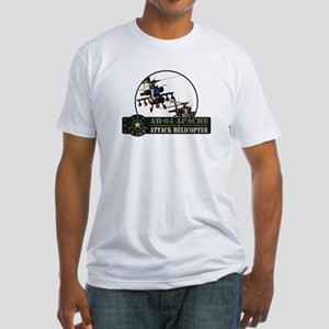 AH-64 Apache Helicopter Fitted T-Shirt