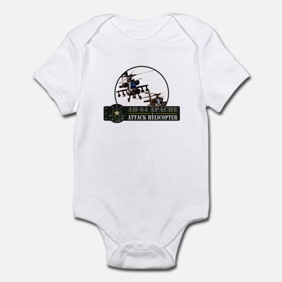 AH-64 Apache Helicopter Infant Bodysuit