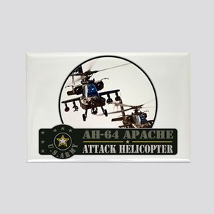 AH-64 Apache Helicopter Rectangle Magnet