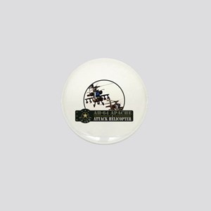 AH-64 Apache Helicopter Mini Button