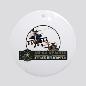 AH-64 Apache Helicopter Ornament (Round)