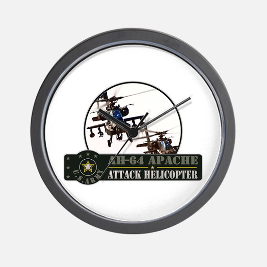 AH-64 Apache Helicopter Wall Clock