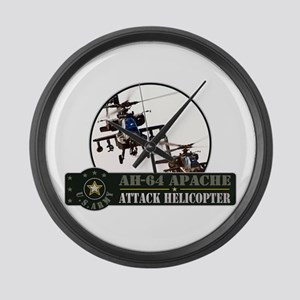 AH-64 Apache Helicopter Large Wall Clock