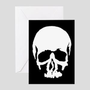 Large Skull Greeting Card