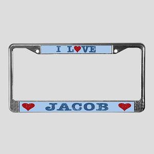 I Love Jacob License Plate Frame