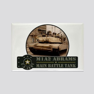 M1 A2 Abrams Tank Rectangle Magnet