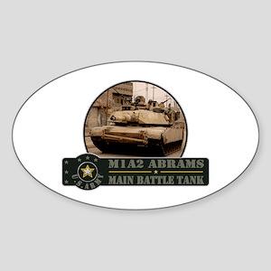 M1 A2 Abrams Tank Oval Sticker
