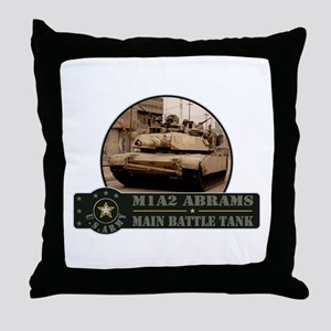 M1 A2 Abrams Tank Throw Pillow