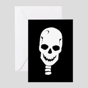 Dancin' Skull Head Greeting Card