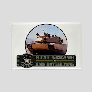 M1A1 Abrams Tank Rectangle Magnet