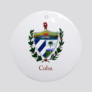 Cuban Coat of Arms Ornament (Round)