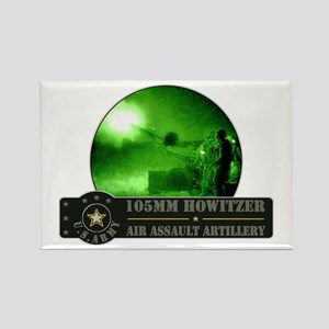 Towed Howitzer Rectangle Magnet