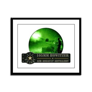 Towed Howitzer Framed Panel Print