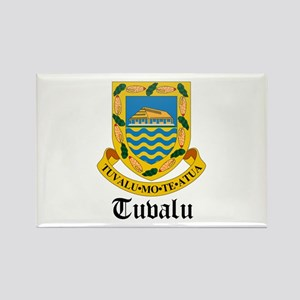 Tuvaluan Coat of Arms Seal Rectangle Magnet