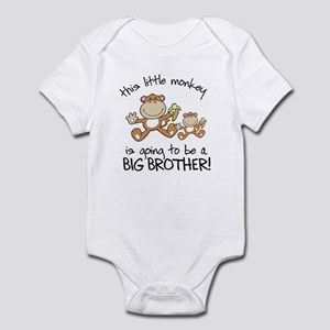 big brother t-shirts monkey Infant Bodysuit