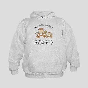 big brother t-shirts monkey Kids Hoodie