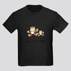 big brother t-shirts monkey Kids Dark T-Shirt
