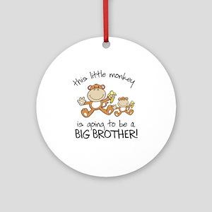 big brother t-shirts monkey Ornament (Round)