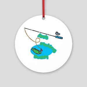 Avo's Fishing Buddy Ornament (Round)