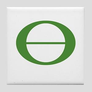 Earth Day Symbol Ecology Symb Tile Coaster
