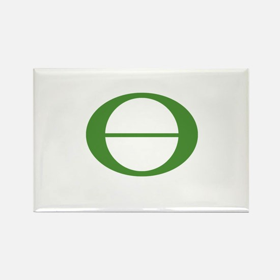 Earth Day Symbol Ecology Symb Rectangle Magnet