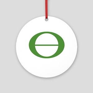 Earth Day Symbol Ecology Symb Ornament (Round)