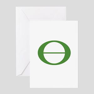 Earth Day Symbol Ecology Symb Greeting Card