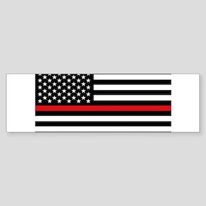 Firefighter Flag Bumper Sticker