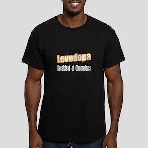 """""""Levodopa...Breakfast"""" Men's Fitted T-Shirt (dark)"""