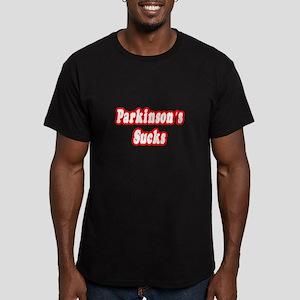 """""""Parkinson's Sucks"""" Men's Fitted T-Shirt (dark)"""