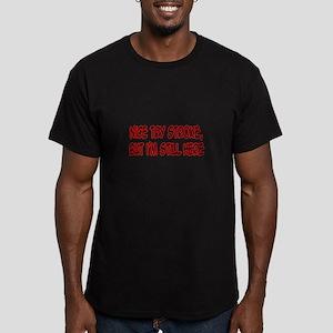 """Nice Try Stroke..."" Men's Fitted T-Shirt (dark)"