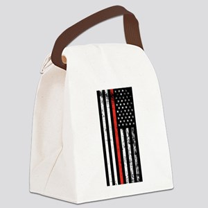 Firefighter Flag Canvas Lunch Bag