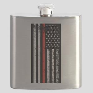 Firefighter Flag Flask
