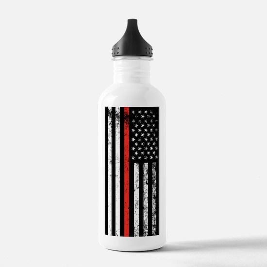 Firefighter Flag Water Bottle