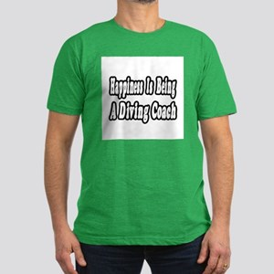 """""""Happiness: Diving Coach"""" Men's Fitted T-Shirt (da"""