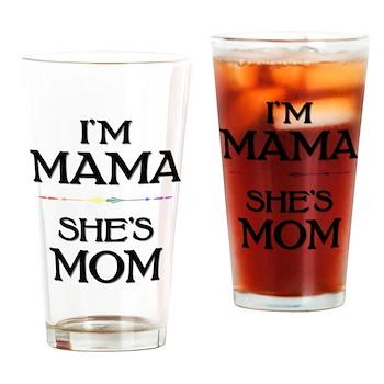 I'm Mama - She's Mom Drinking Glass