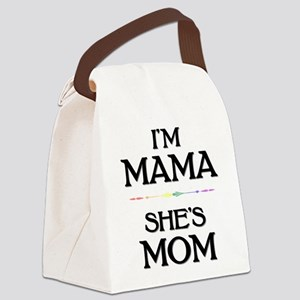 I'm Mama - She's Mom Canvas Lunch Bag