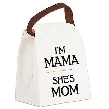 I'm Mama - She's Mom Canvas Lunch Bag
