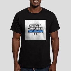 """Greatest Swimming Coach"" Men's Fitted T-Shirt (da"