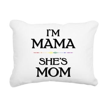 I'm Mama - She's Mom Rectangular Canvas Pillow