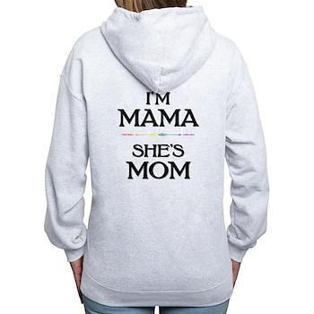 I'm Mama - She's Mom Women's Zip Hoodie