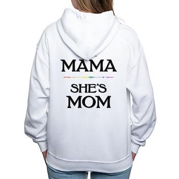 I'm Mama - She's Mom Women's Hooded Sweatshirt