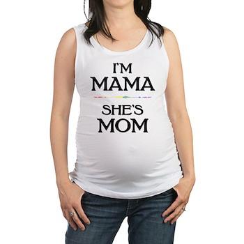 I'm Mama - She's Mom Maternity Tank Top