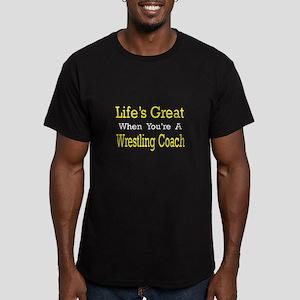 """Great...Wrestling Coach"" Men's Fitted T-Shirt (da"