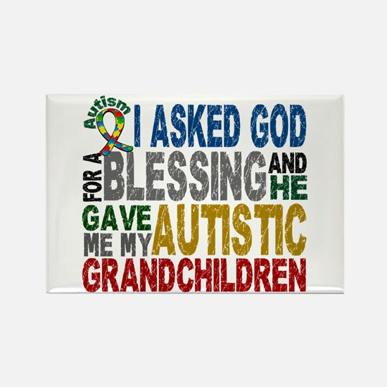 Blessing 5 Autistic Grandchildren Rectangle Magnet
