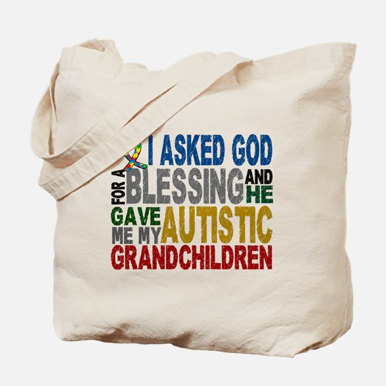 Blessing 5 Autistic Grandchildren Tote Bag