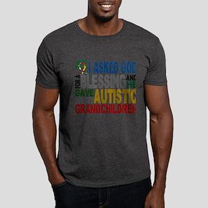 Blessing 5 Autistic Grandchildren Dark T-Shirt