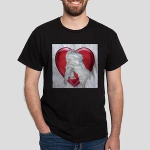 Maltese Love Black T-Shirt