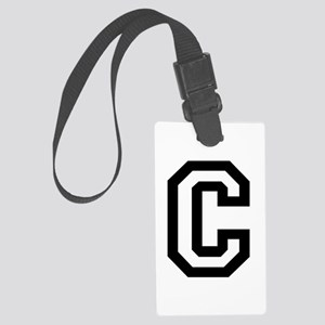 College Font C Large Luggage Tag