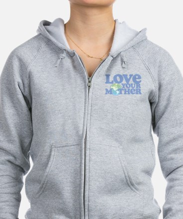 Retro Love your Mother Zip Hoody